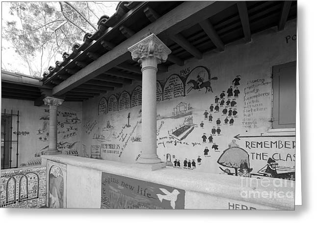 Scripps College Graffiti Wall Greeting Card by University Icons