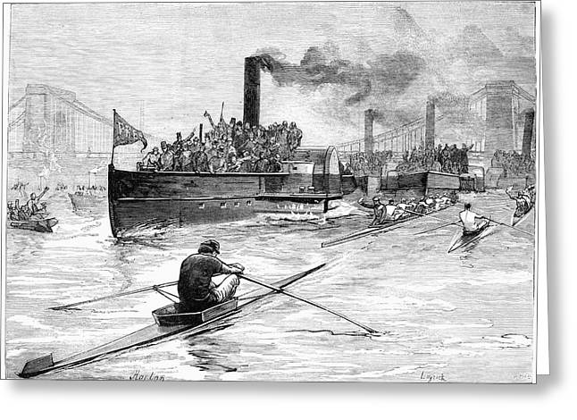 Sculling Race, 1881 Greeting Card by Granger