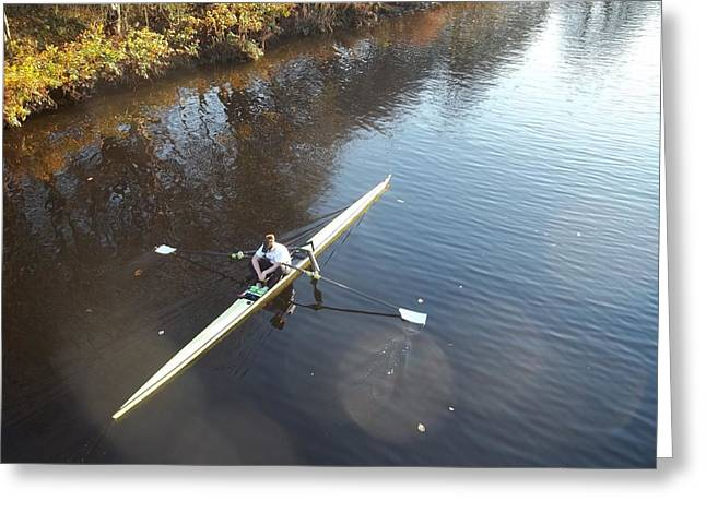 Sculling The Firth II Greeting Card