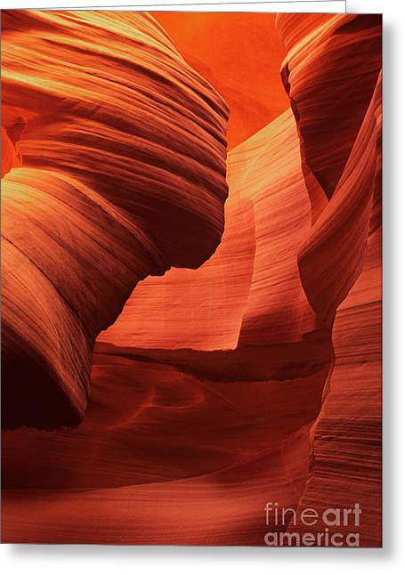 Greeting Card featuring the photograph Sculpted Sandstone Upper Antelope Slot Canyon Arizona by Dave Welling