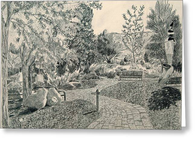 Sculpture Garden In The Fall Greeting Card by Joanna Franke