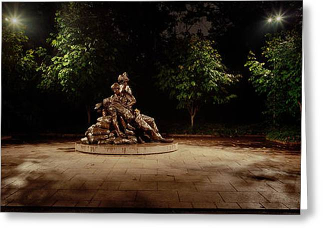 Sculpture In A Memorial, Vietnam Womens Greeting Card by Panoramic Images