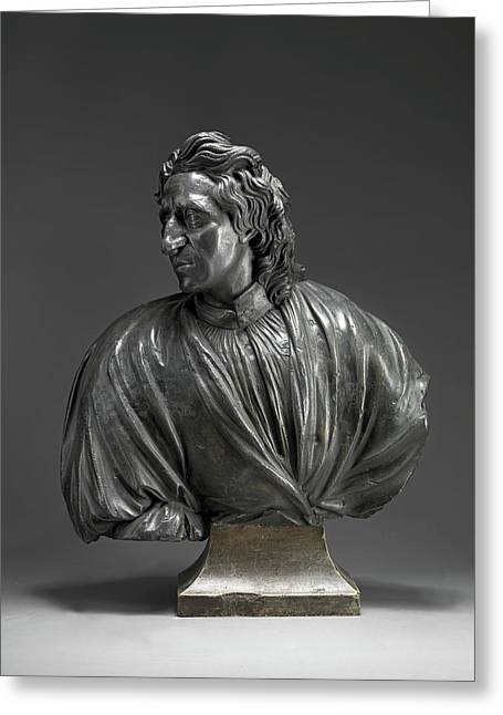 Sculpture, John Locke, Attributed To John Nost The Elder Greeting Card