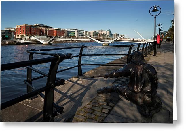 Sculpture Of A Docker,the Sean Ocasey Greeting Card