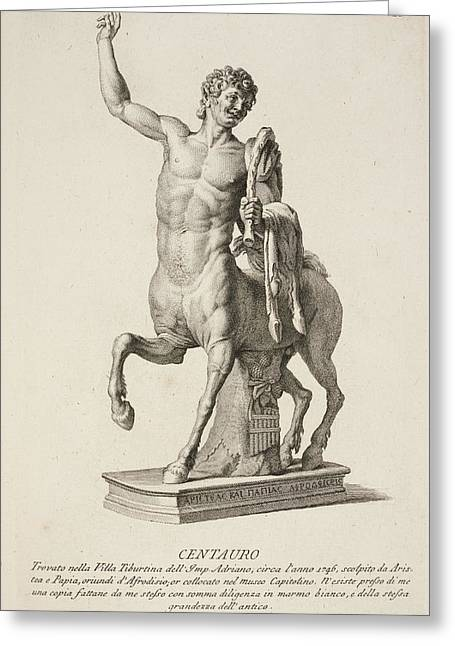 Sculpture Of Centaur From Italy Greeting Card