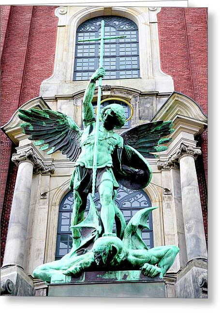 Sculpture Of The Archangel Michael Greeting Card