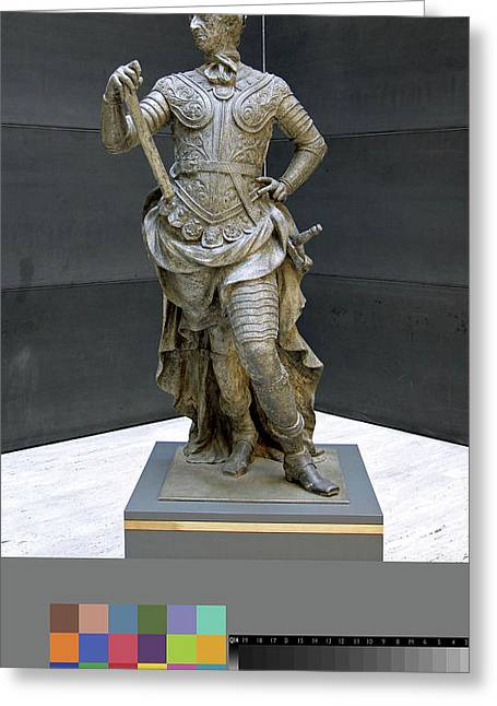 Sculpture, William IIi Inscribed On Rear Of Statue Greeting Card