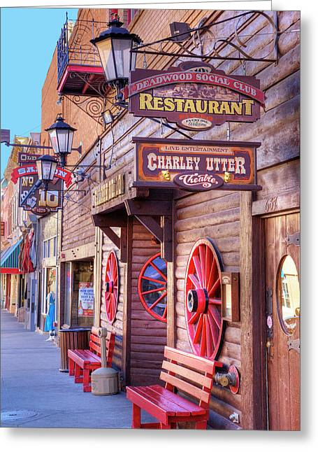 Sd, Deadwood, Main Street, Historic Greeting Card