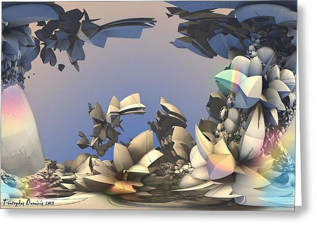 Sea Acorns Coffee. 2013 90/63 Cm.  Greeting Card