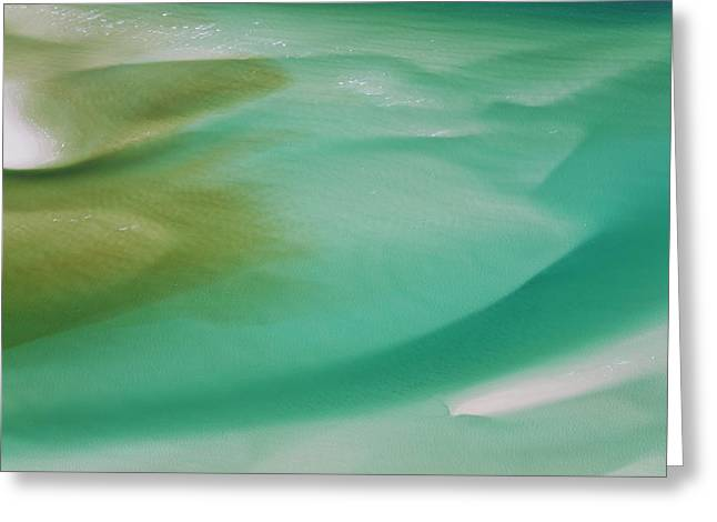 Sea And Fresh Water Covering Beach Greeting Card by Peter Adams