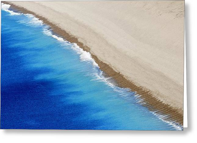 Sea And Sand Greeting Card by Wendy Wilton