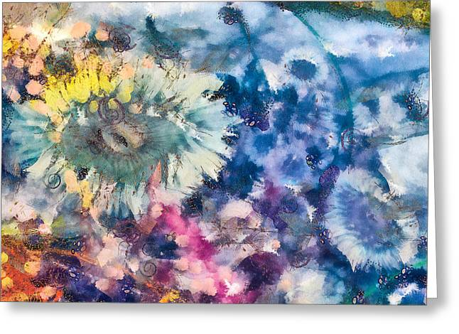 Sea Anemone Garden Greeting Card