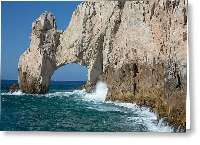 Sea Arch El Arco De Cabo San Lucas Greeting Card by Allan Levin