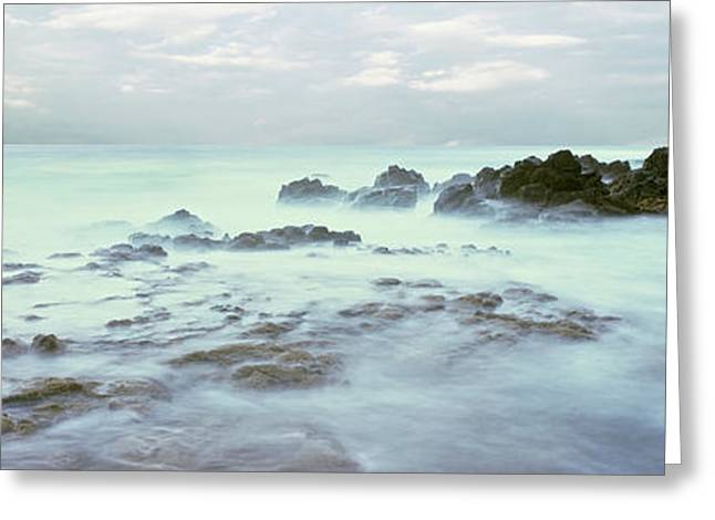 Sea At Dawn, Las Rocas Beach, Baja Greeting Card by Panoramic Images
