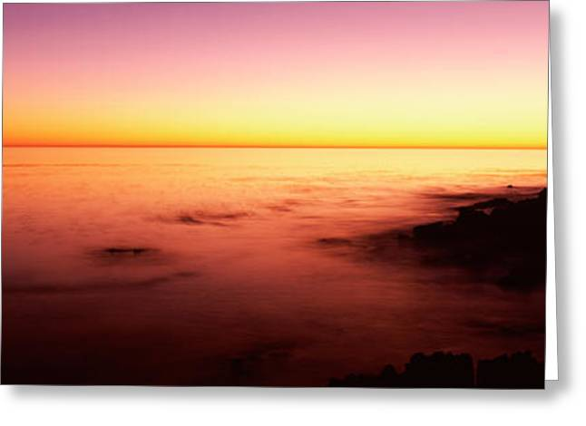 Sea At Sunset, Point Lobos State Greeting Card