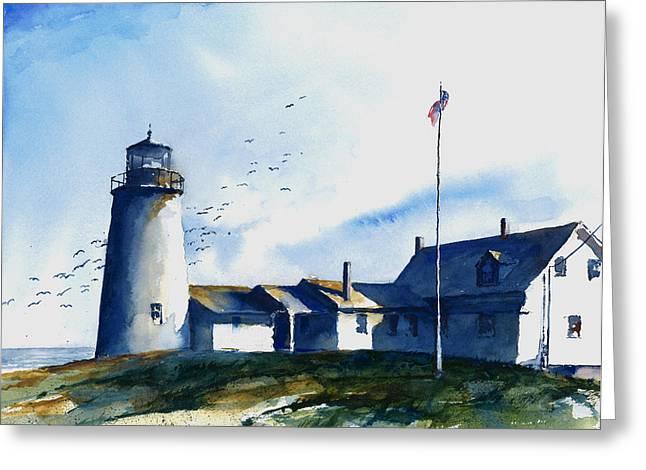 Sea Birds - Pemaquid Lighthouse Greeting Card