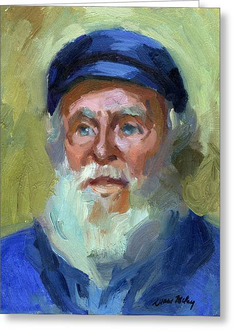 Sea Captain 1 Greeting Card by Diane McClary