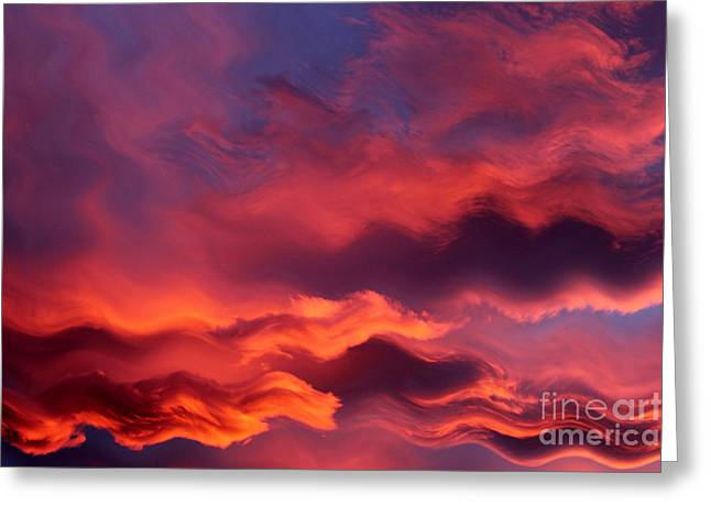 Sea Clouds Greeting Card by Krissy Katsimbras