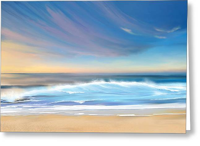 Greeting Card featuring the digital art Sea Coast Escape by Anthony Fishburne