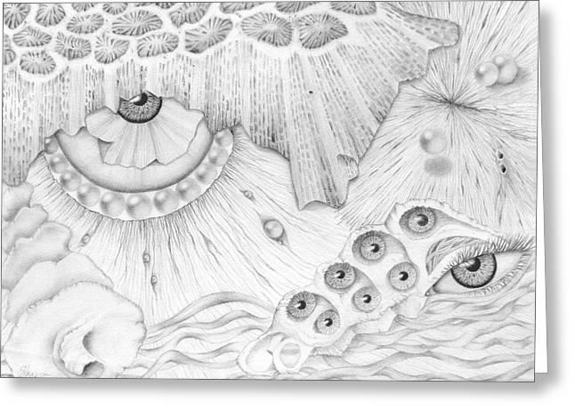 Sea Deep In Wisdom Greeting Card by Sharon Ebert