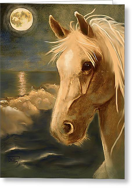 Greeting Card featuring the painting Sea Dream by Terry Webb Harshman