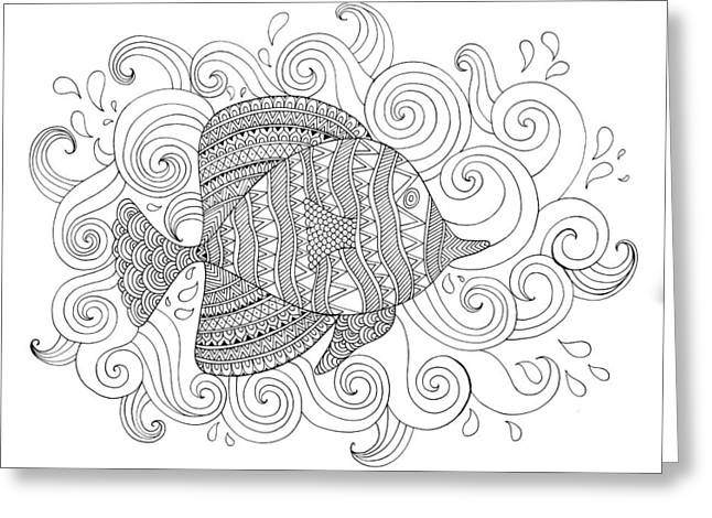 Sea Fish 1 Greeting Card