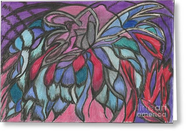 0044 Sea Flower Greeting Card by Essel Emve