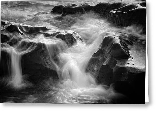 Sea Foam Falls Greeting Card by Joseph Smith