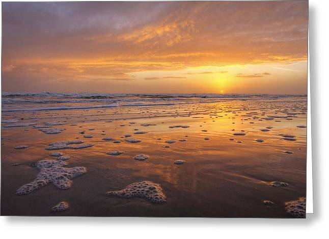 Sea Foam Sunrise Greeting Card by Danny Mongosa