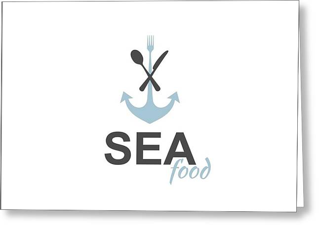 Sea Food Logo Greeting Card