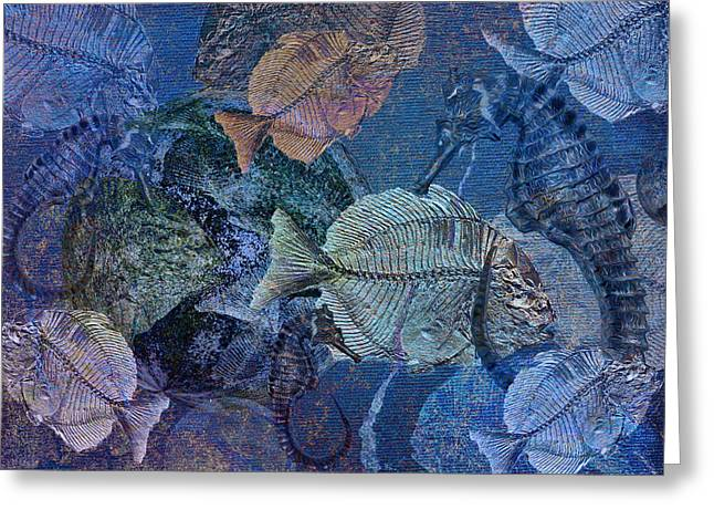 Sea Fossil World Greeting Card