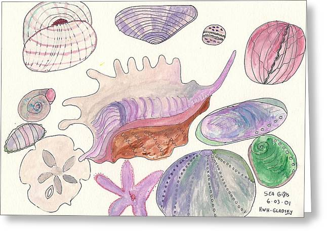 Sea Gifts Greeting Card by Helen Holden-Gladsky