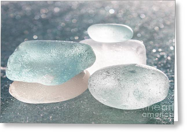 Sea Glass Aqua Shimmer Greeting Card
