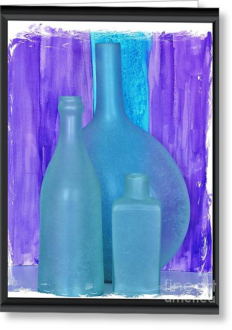 Sea Glass Bottles Made In India Greeting Card