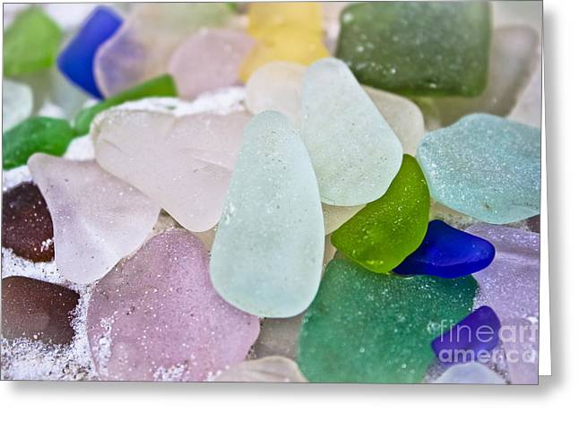 Sea Glass Greeting Card by Colleen Kammerer