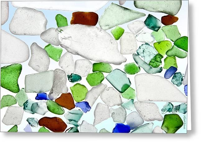 Sea Glass Greeting Card by Michelle Wiarda