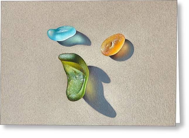 Sea Glass - Trio Greeting Card
