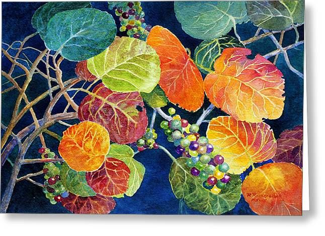Sea Grapes II Greeting Card by Roger Rockefeller