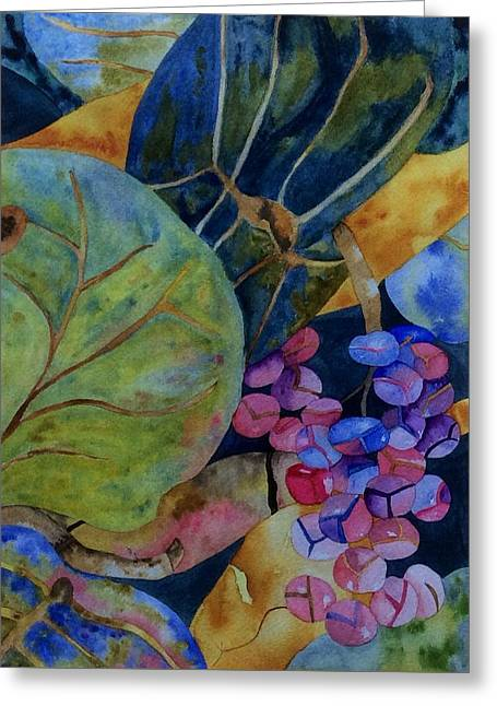 Greeting Card featuring the painting Sea Grapes by Patti Ferron