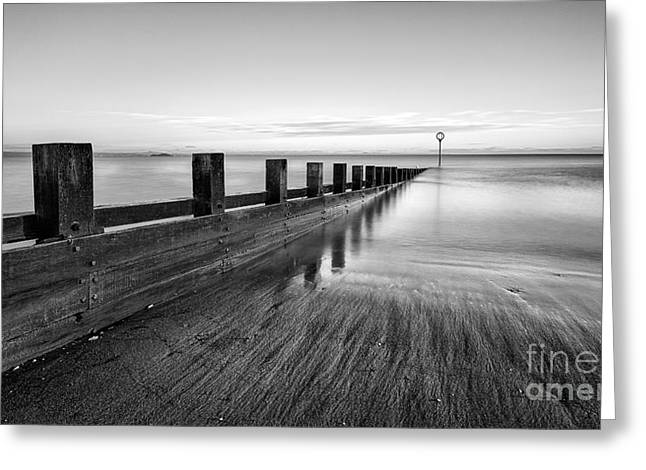 Sea Groynes Portobello Greeting Card