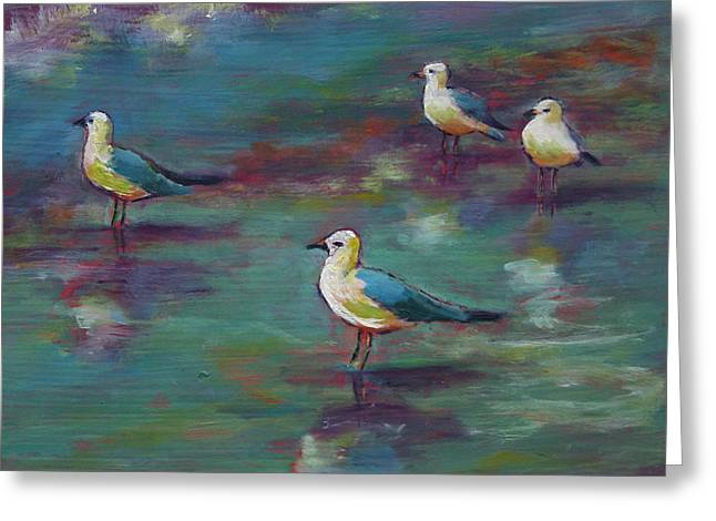 Sea Gulls Beach Bums Greeting Card