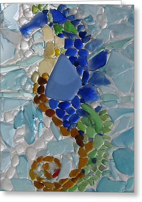 Sea Horse 1 Greeting Card by Anne Marie Brown