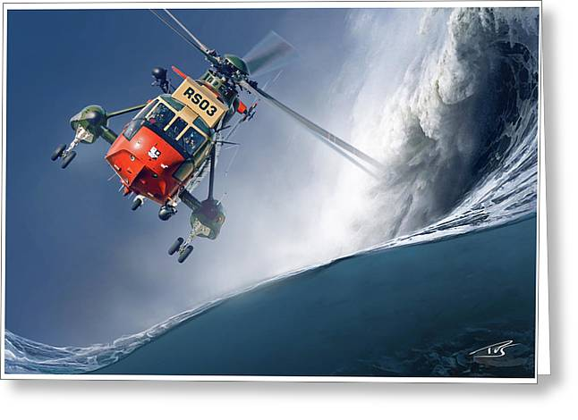 Sea King Greeting Card by Peter Van Stigt