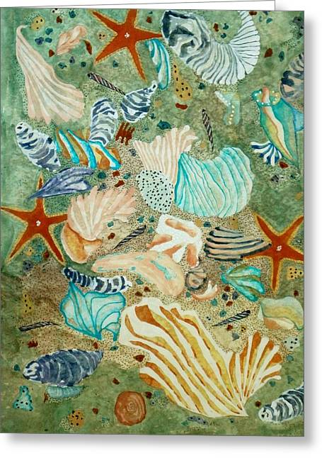 Sea Life Greeting Card by David Raderstorf