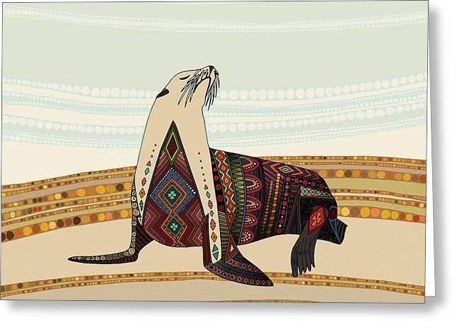 Sea Lion Greeting Card by Sharon Turner