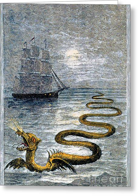 Sea Monster, Legendary Creature Greeting Card