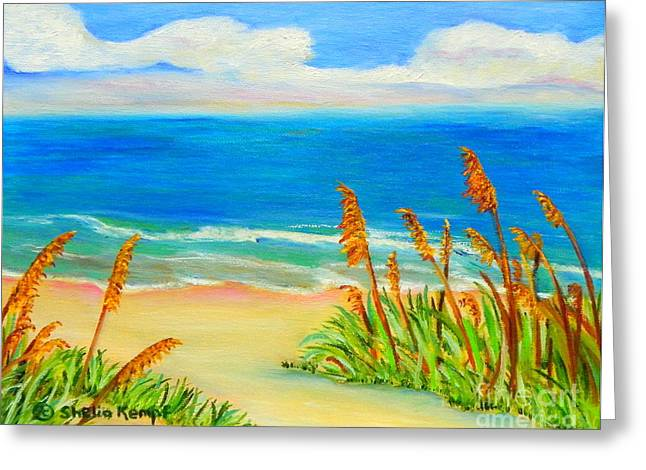 Sea Oat Path Greeting Card by Shelia Kempf