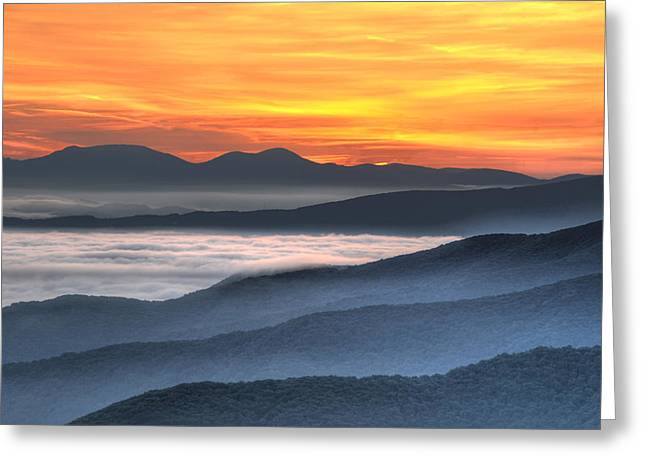 Sea Of Awakening Greeting Card by Mary Anne Baker