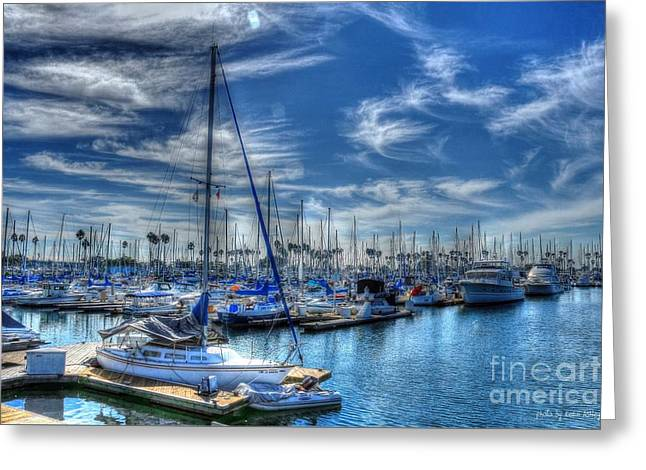 Sea Of Blue Greeting Card by Kevin Ashley