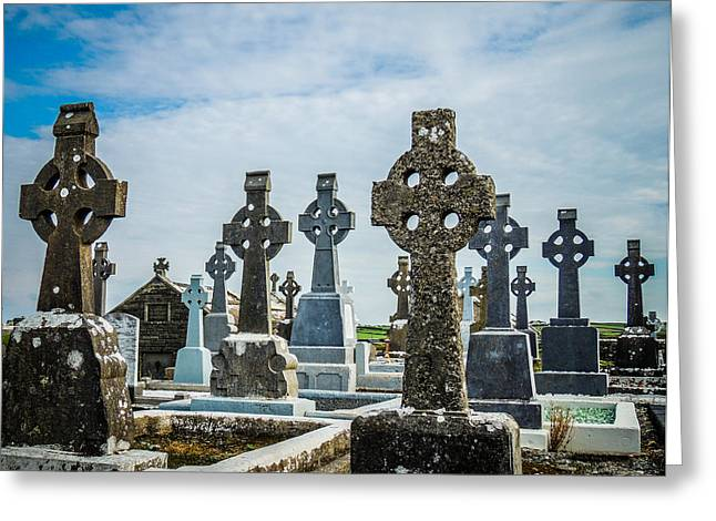 Sea  Of Celtic Crosses Greeting Card